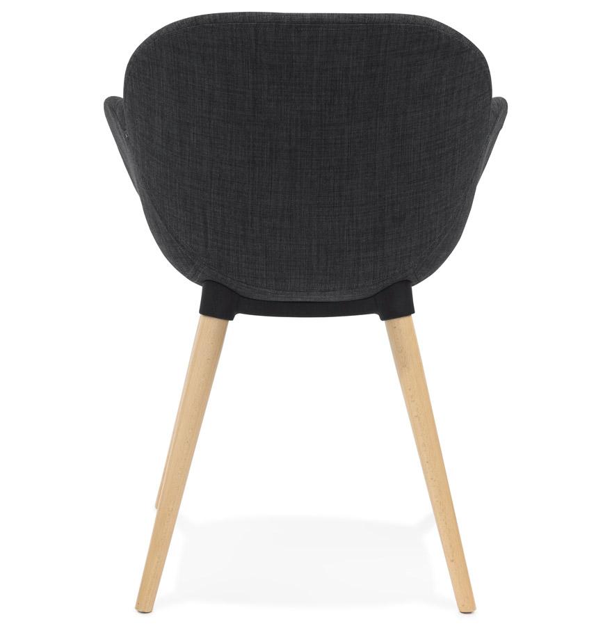stoel met scandinavisch design tapioca in donkergrijze stof. Black Bedroom Furniture Sets. Home Design Ideas