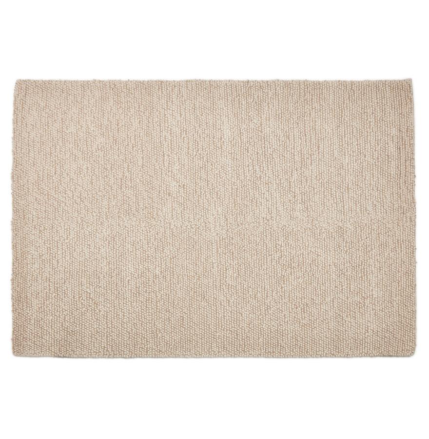 tapis design tapy en laine beige 160x230 cm. Black Bedroom Furniture Sets. Home Design Ideas