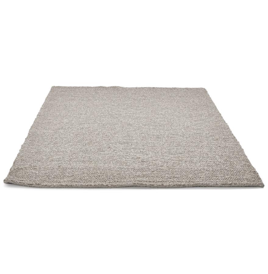 Tapis design ´TAPY´ 160x230 cm gris en laine