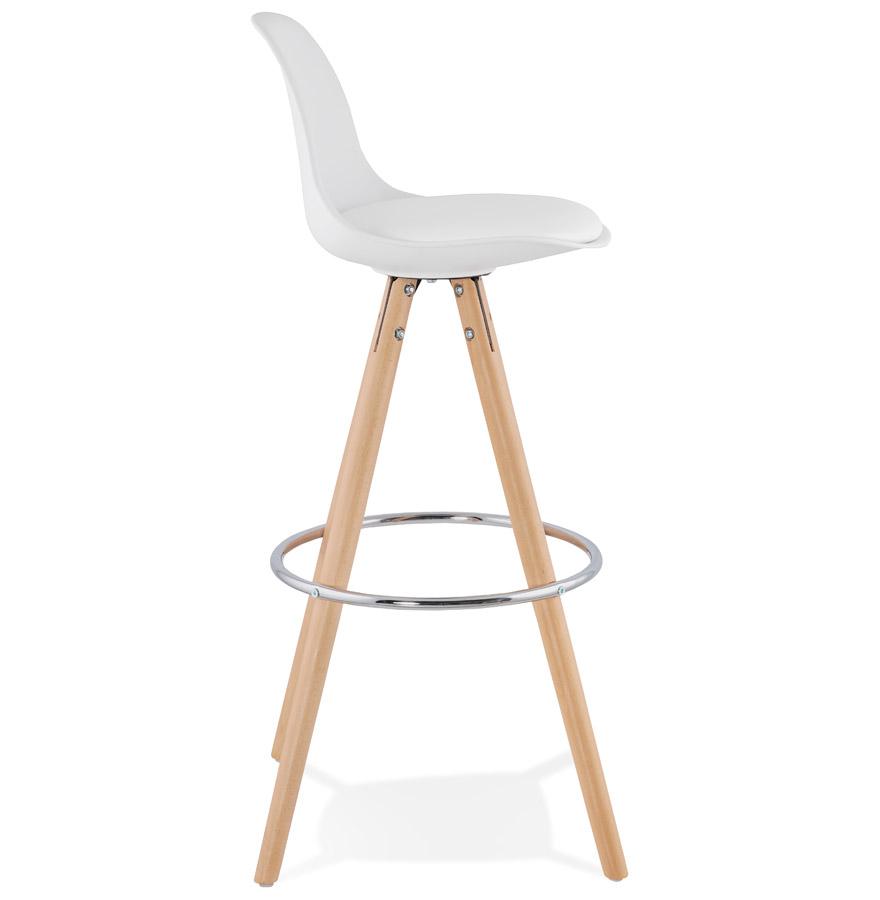 Tabouret de bar design ´TATAMI´ blanc