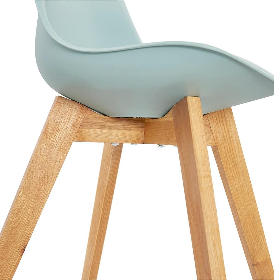 moderne stoel teki blauw scandinavische stoel. Black Bedroom Furniture Sets. Home Design Ideas