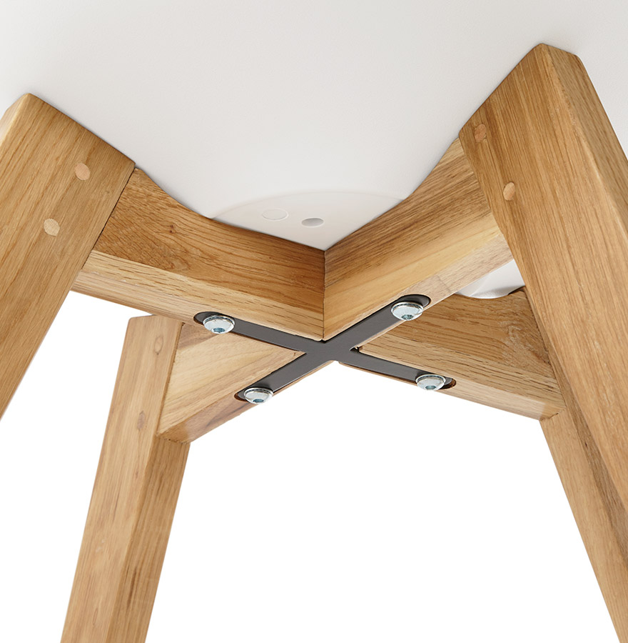 witte moderne stoel teki stoel in scandinavische stijl. Black Bedroom Furniture Sets. Home Design Ideas