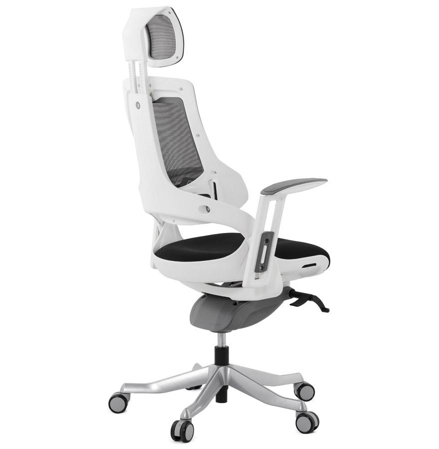 fauteuil de bureau ergonomique teknik design en tissu noir. Black Bedroom Furniture Sets. Home Design Ideas