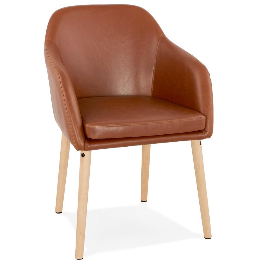 chaise avec accoudoirs texas brune chaise design. Black Bedroom Furniture Sets. Home Design Ideas