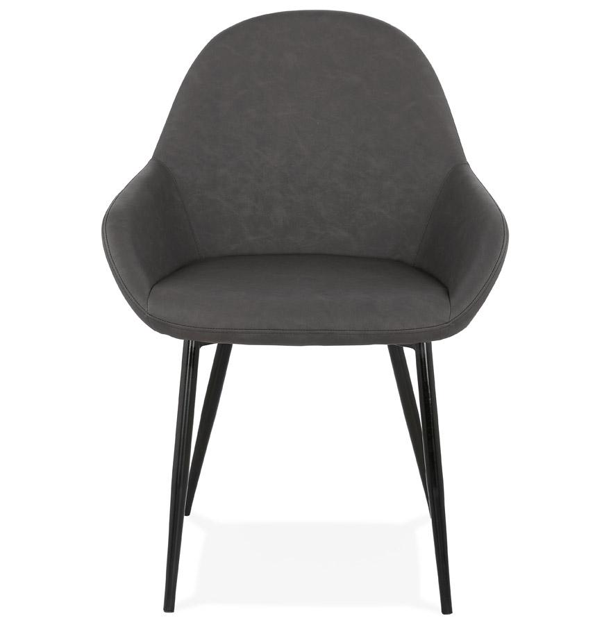Chaise avec accoudoirs ´THELMA´ grise design