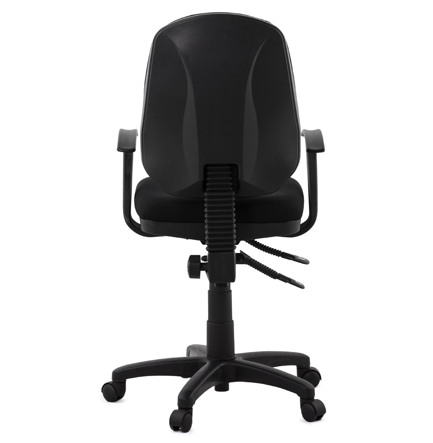 Siège de bureau ´TIPI´ en tissu noir