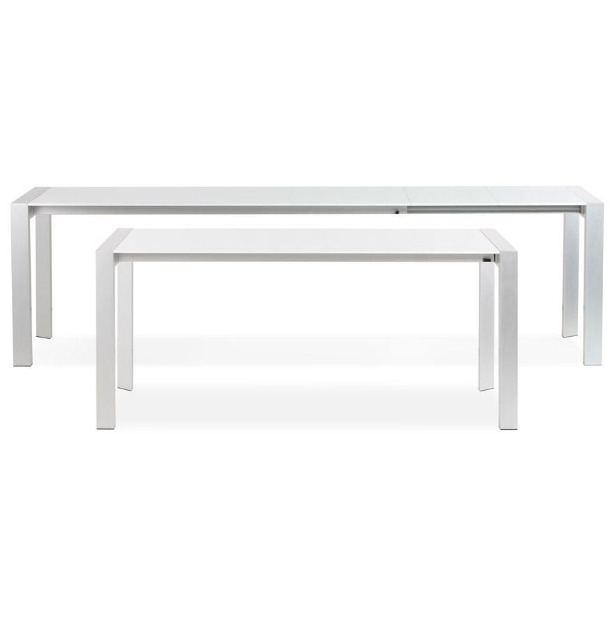 table d ner extensible titan blanche table design de r union. Black Bedroom Furniture Sets. Home Design Ideas