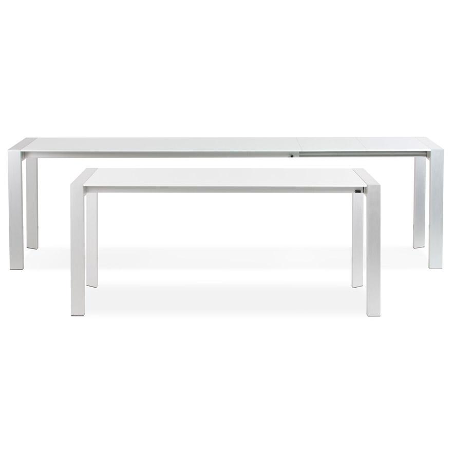 table d ner extensible titan blanche table design de r union. Black Bedroom Furniture Sets. Home Design Ideas