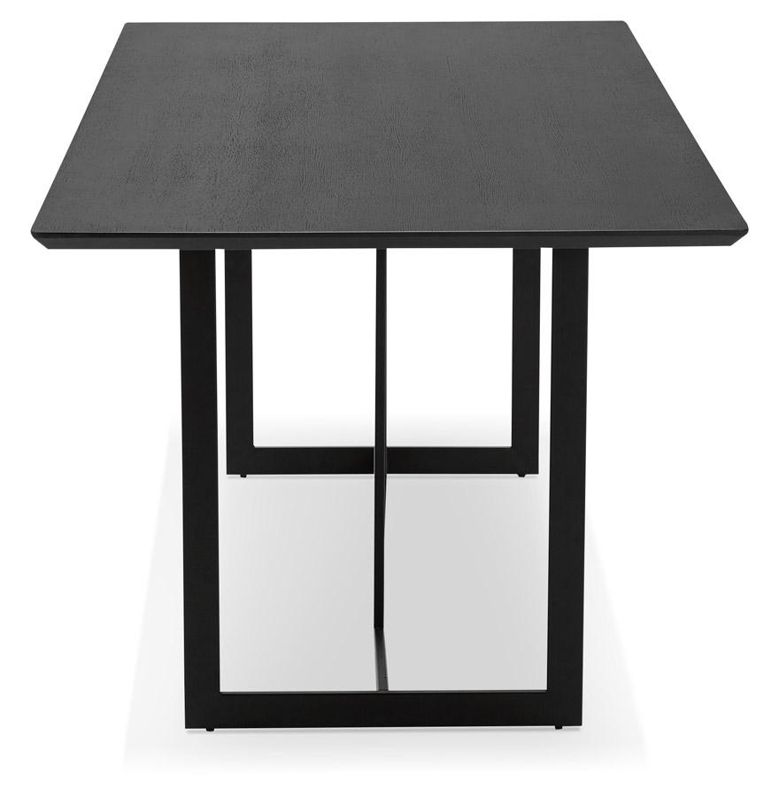 design tafel titus van zwart hout modern bureau 180x90 cm. Black Bedroom Furniture Sets. Home Design Ideas