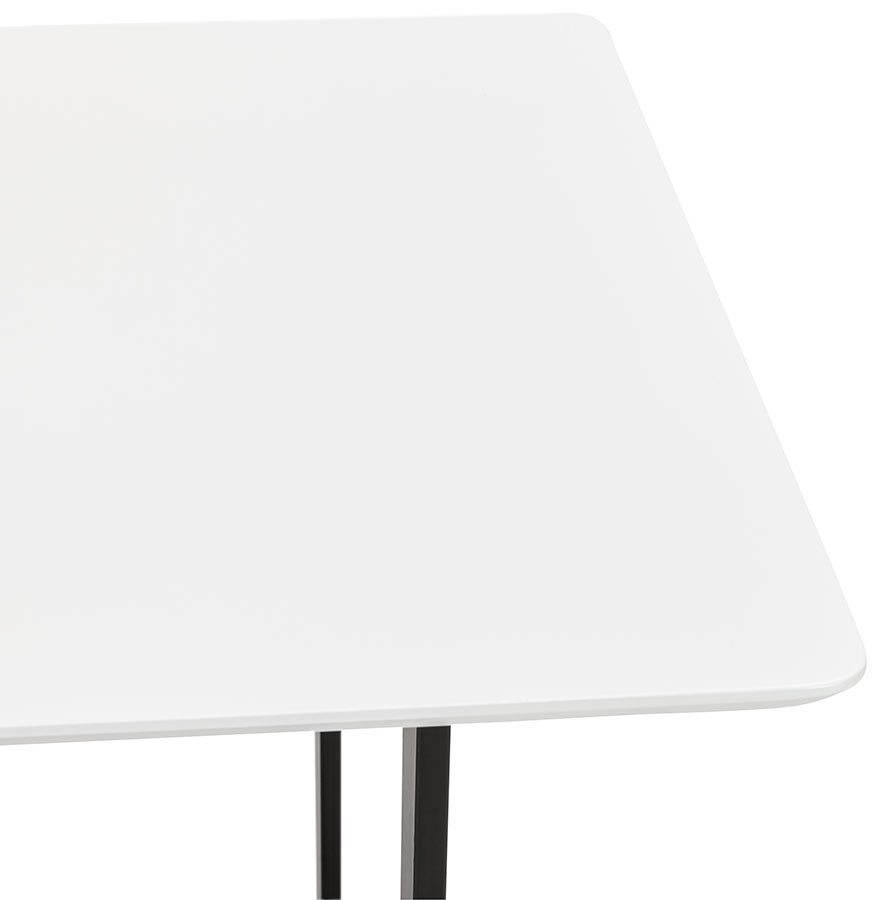 Design tafel titus van wit hout modern bureau 150x70 cm for Bureau 150x70