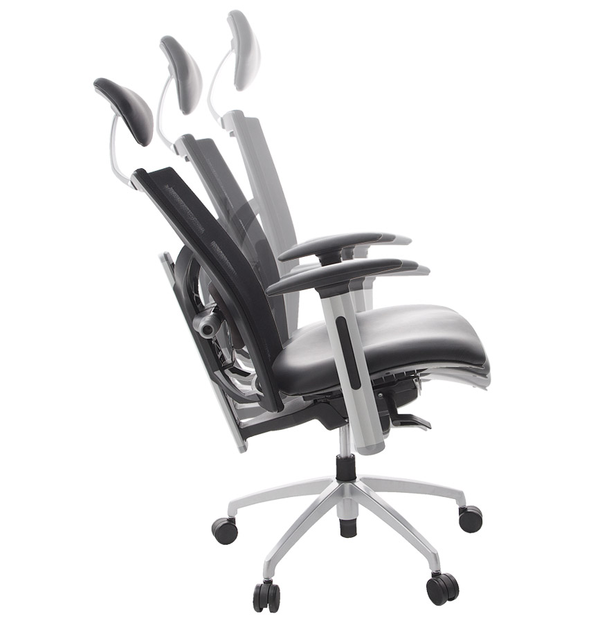 Fauteuil de bureau ergonomique ´TOKYO´ en matière synthétique noire