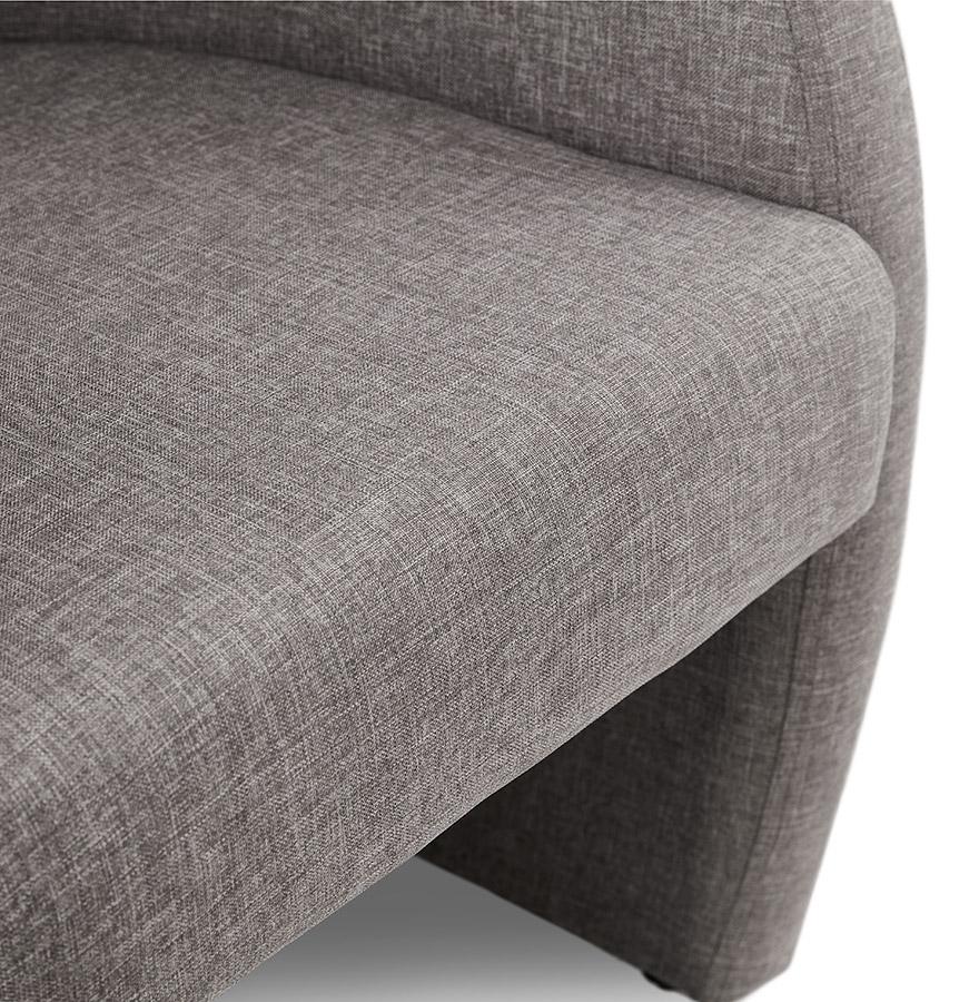 fauteuil de salon design 1 place tom en tissu gris. Black Bedroom Furniture Sets. Home Design Ideas