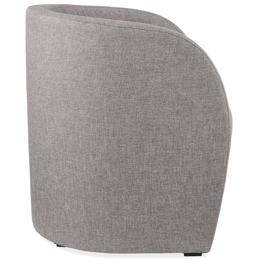 tom grey h2 03 - Fauteuil de salon design 1 place ´TOM´ en tissu gris
