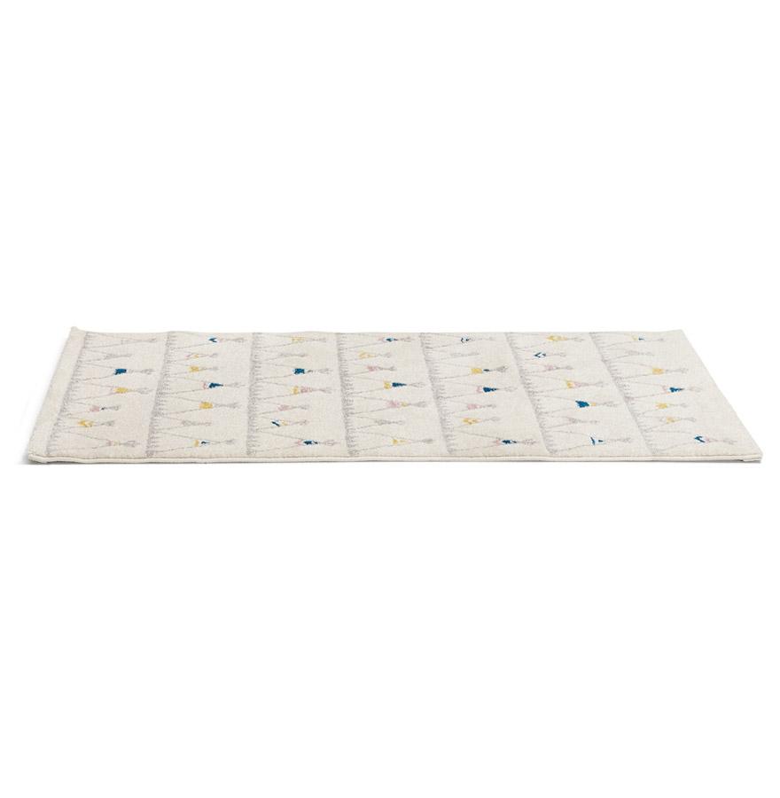 Tapis enfant blanc ´TOMAK´ 80/150 cm motifs tente indien