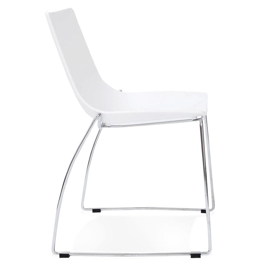 Chaise design ´TRENO´ blanche en matière plastique