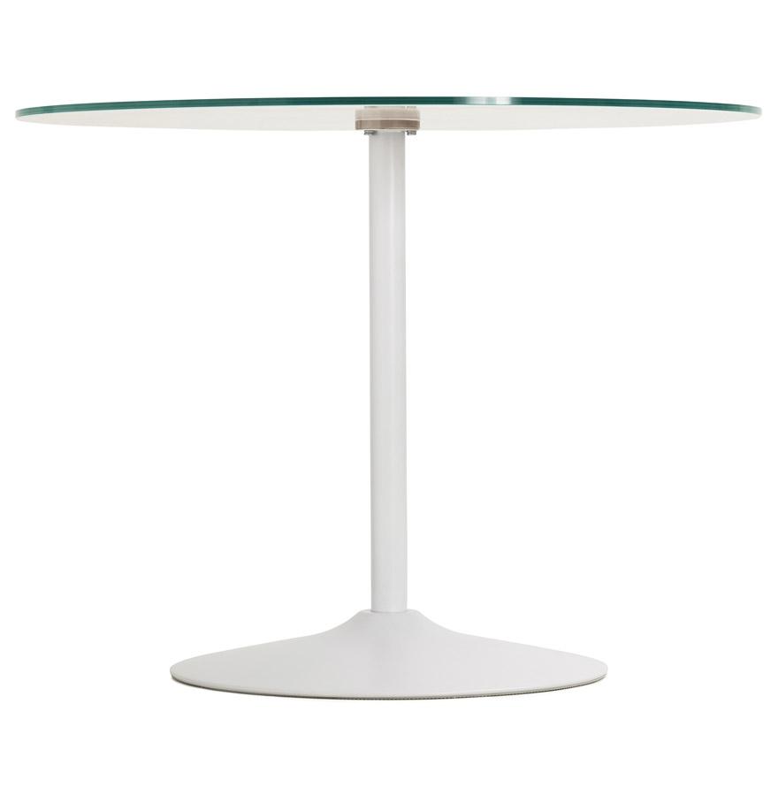 trobo white psd h1 01 - Table à dîner ronde ´TROBO´ blanche en verre - Ø 100 cm