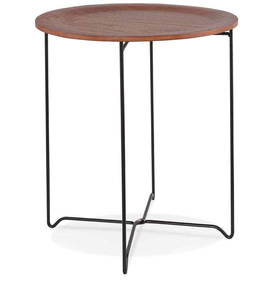 Table d´appoint design ´TSUNAMI´ noire style industriel