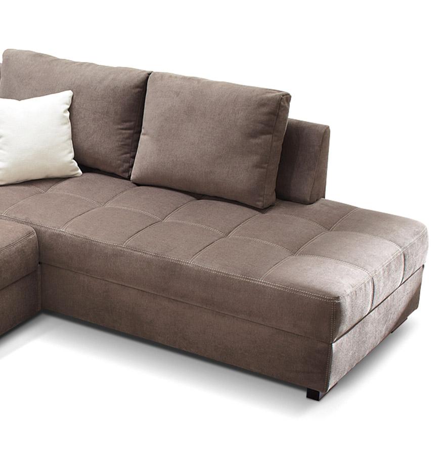 converteerbare bruine hoekbank tundra design zitbank. Black Bedroom Furniture Sets. Home Design Ideas