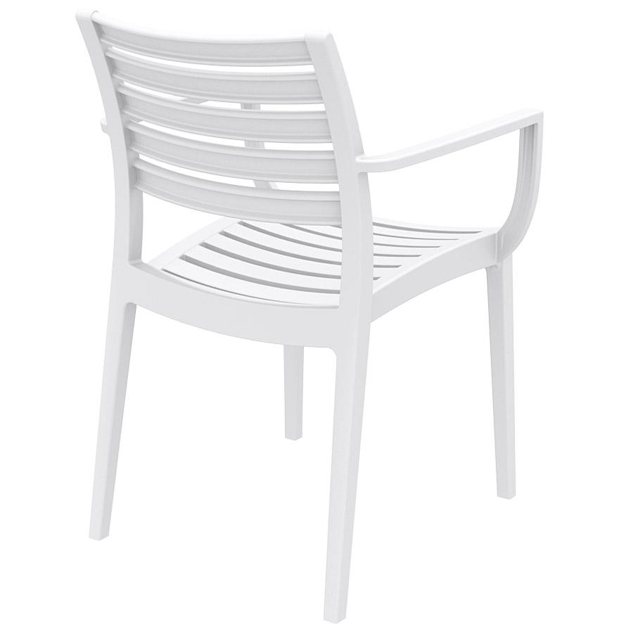 Chaise de terrasse moderne ultimo blanche chaise design - Chaise moderne blanche ...