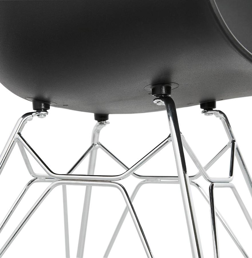 moderne stoel unami zwart van kunststof. Black Bedroom Furniture Sets. Home Design Ideas