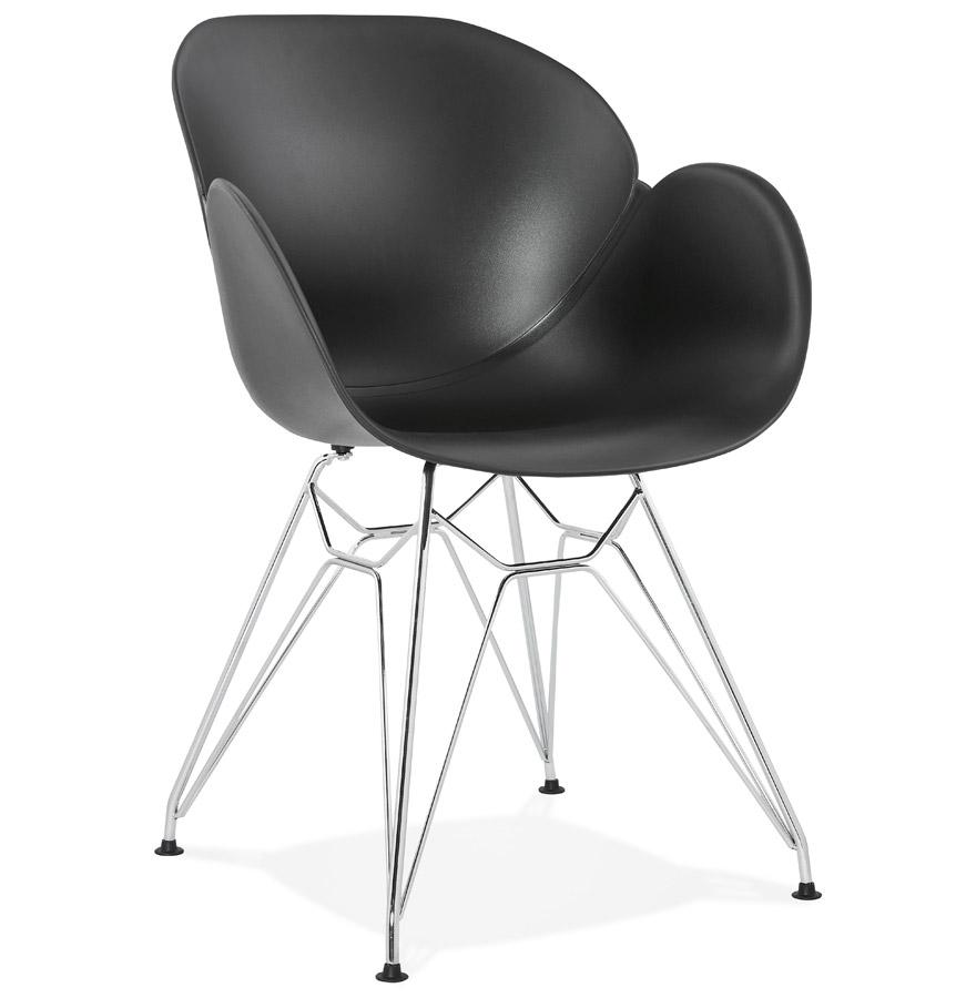 Moderne stoel unami zwart van kunststof - Moderne stoel ...