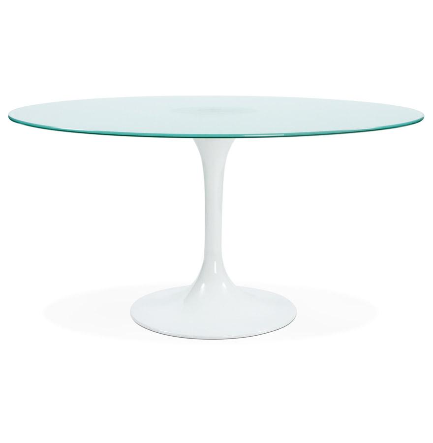 Table A Diner Ronde Monica En Verre Sable Design O 140 Cm