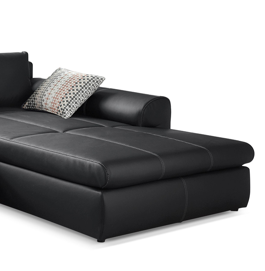 canap design verso canap d 39 angle convertible noir. Black Bedroom Furniture Sets. Home Design Ideas