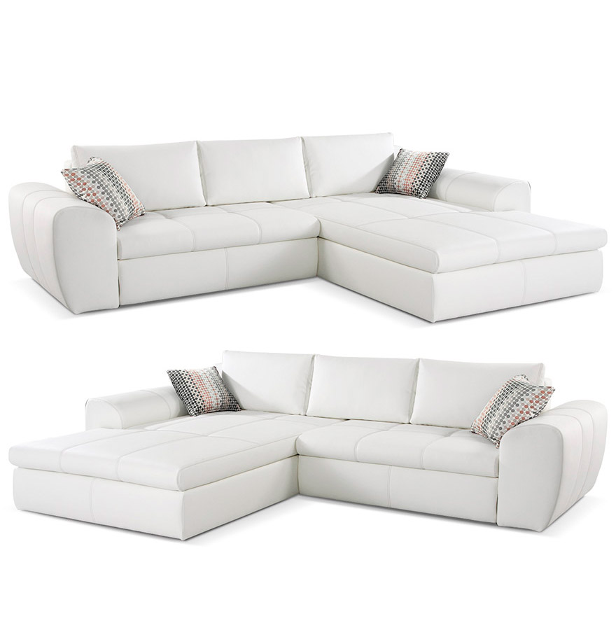 canap design verso canap d 39 angle convertible blanc. Black Bedroom Furniture Sets. Home Design Ideas