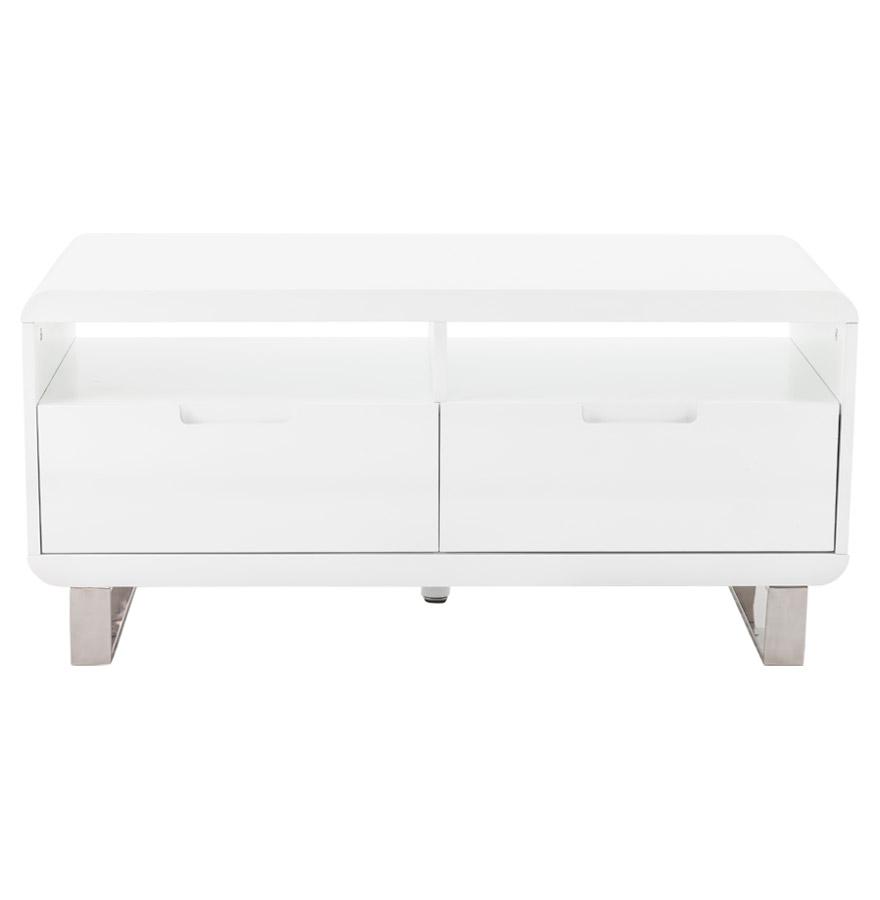 Meuble TV design ´VIDEO´ en bois blanc