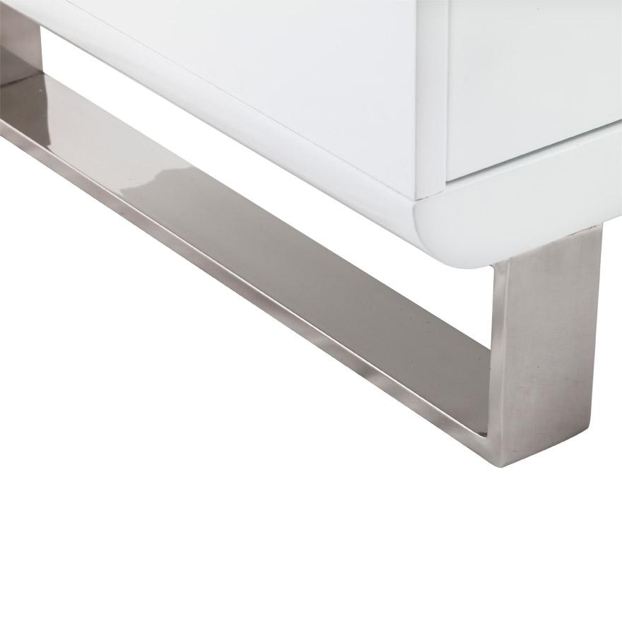 meuble de t l vision video en bois blanc mobilier design. Black Bedroom Furniture Sets. Home Design Ideas
