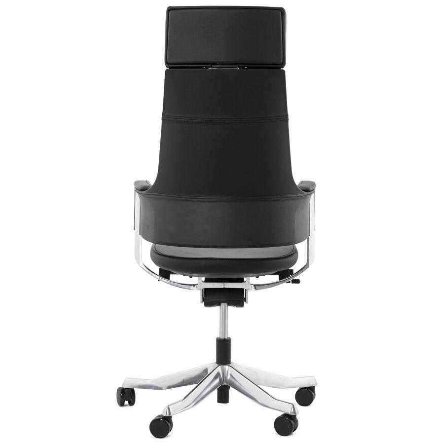 fauteuil de bureau ergonomique vip design en cuir noir. Black Bedroom Furniture Sets. Home Design Ideas