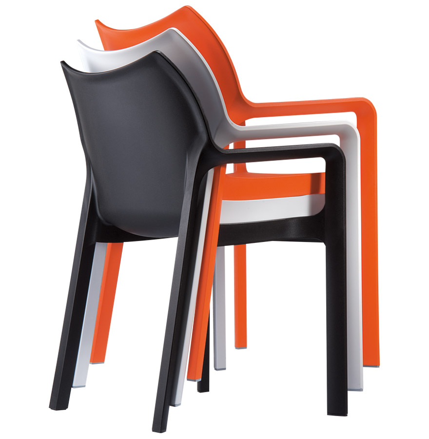 terrasstoel viva uit blauwe kunststof designstoel. Black Bedroom Furniture Sets. Home Design Ideas