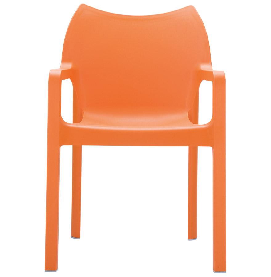 Chaise design de terrasse ´VIVA´ orange en matière plastique