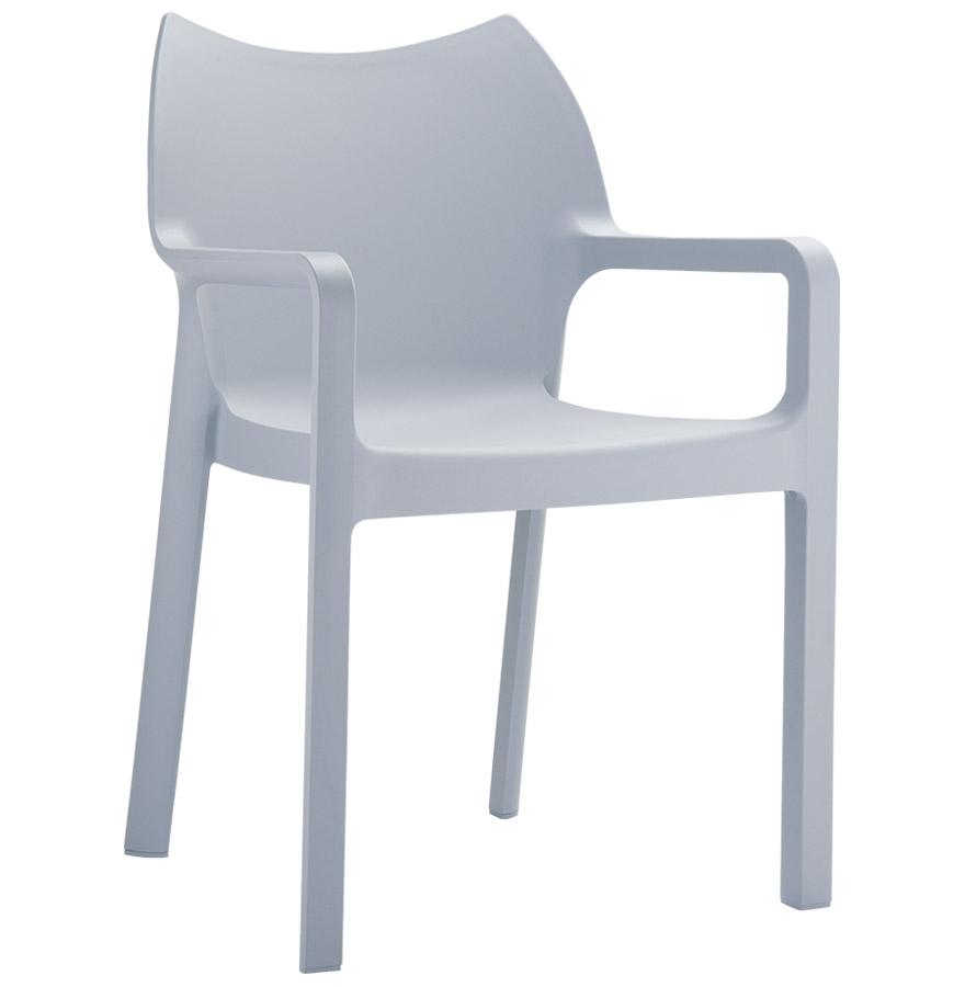 chaise de terrasse viva design en mati re plastique grise claire. Black Bedroom Furniture Sets. Home Design Ideas