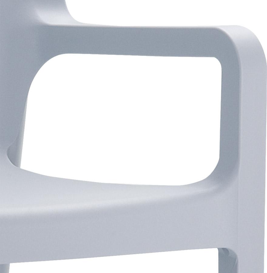 viva silver grey 03 - Chaise design de terrasse ´VIVA´ grise claire en matière plastique