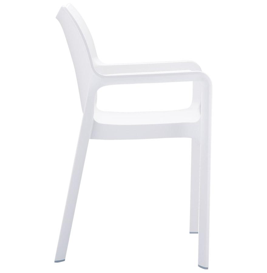 Chaise design de terrasse ´VIVA´ blanche en matière plastique