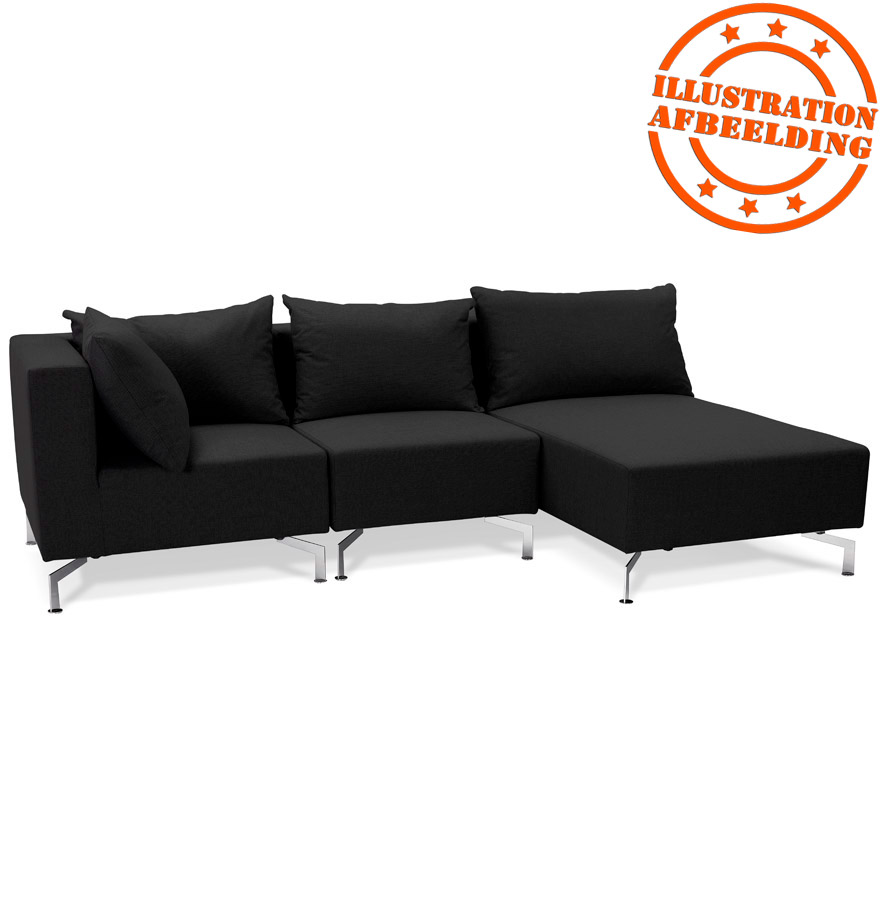 m ridienne voltaire longchair zwart samen te stellen bank. Black Bedroom Furniture Sets. Home Design Ideas