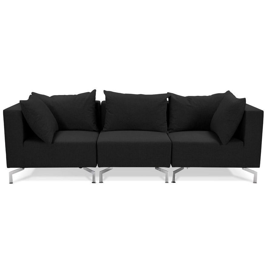 voltaire black h2 02b - Canapé modulable design ´VOLTAIRE´ noir