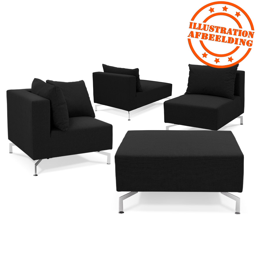 pouf de canap voltaire one noir canap modulable. Black Bedroom Furniture Sets. Home Design Ideas