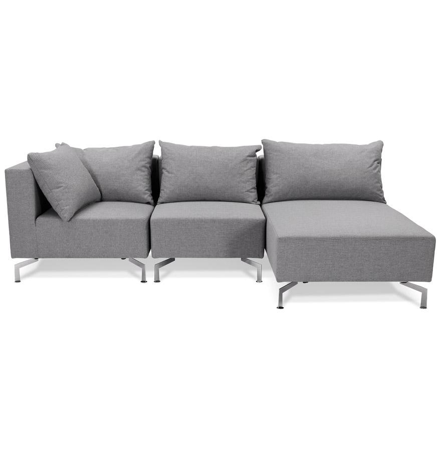 voltaire l shape grey h2 02 - Canapé d´angle modulable ´VOLTAIRE L SHAPE´ gris (angle au choix)