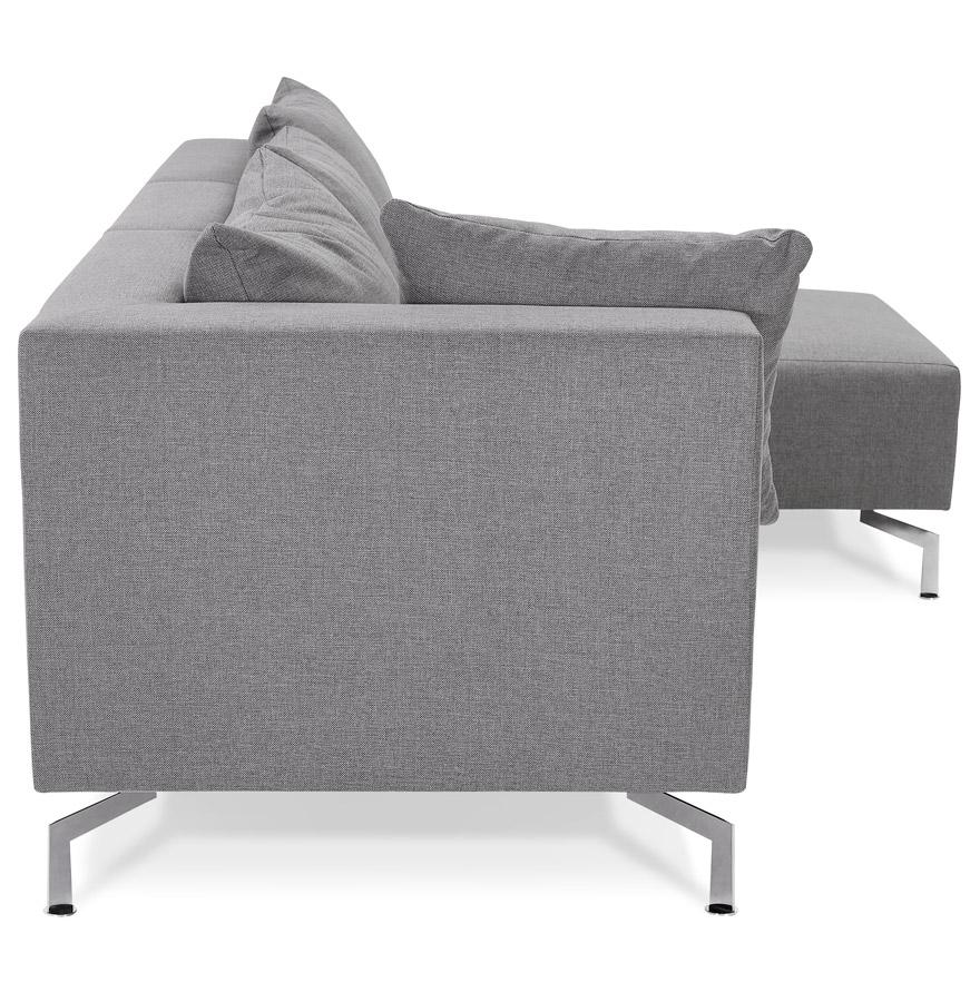 voltaire l shape grey h2 03 - Canapé d´angle modulable ´VOLTAIRE L SHAPE´ gris (angle au choix)