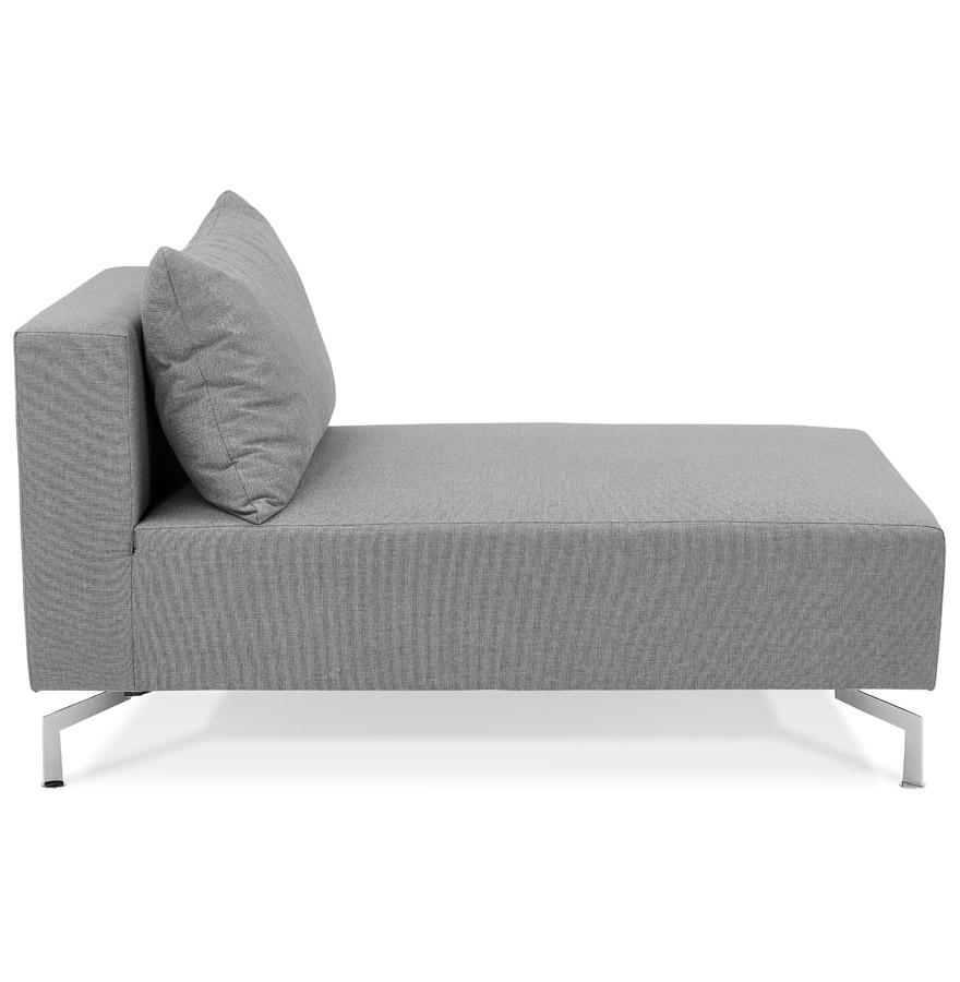 Élément de canapé modulable ´VOLTAIRE LONGCHAIR´ gris - méridienne