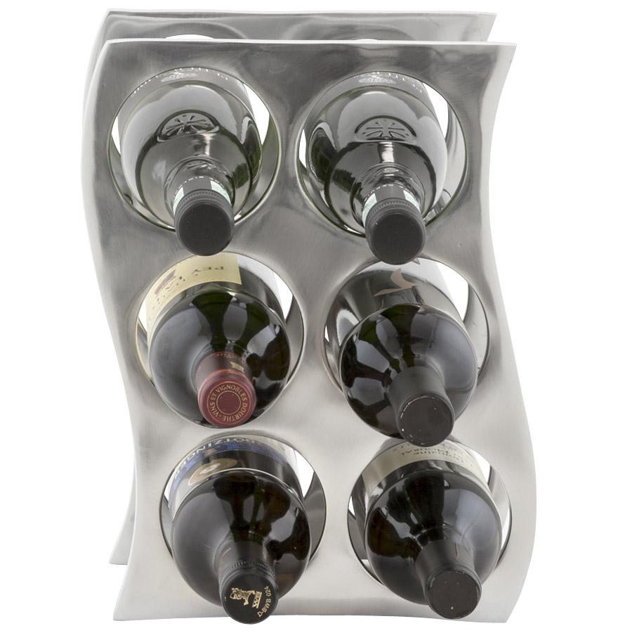 porte bouteilles wain en aluminium objet deco design. Black Bedroom Furniture Sets. Home Design Ideas