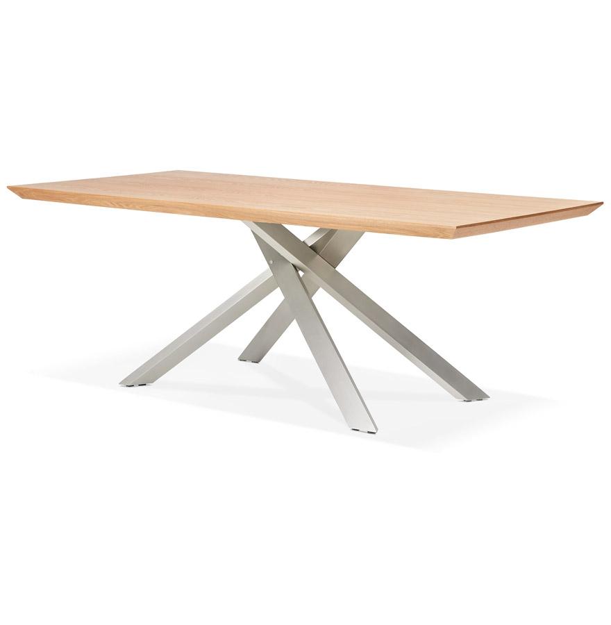 eettafel walaby tafel in natuurlijk hout met centrale metalen voet. Black Bedroom Furniture Sets. Home Design Ideas