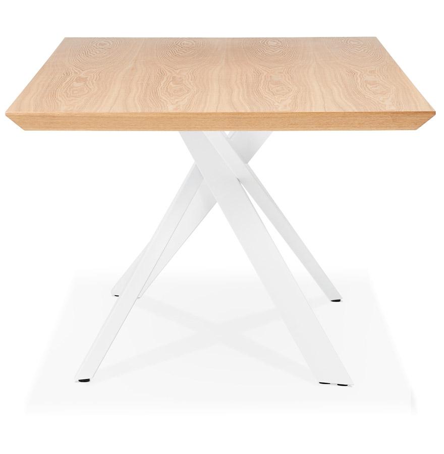 eettafel walaby tafel in naturel hout met witte x vormige centrale voet. Black Bedroom Furniture Sets. Home Design Ideas