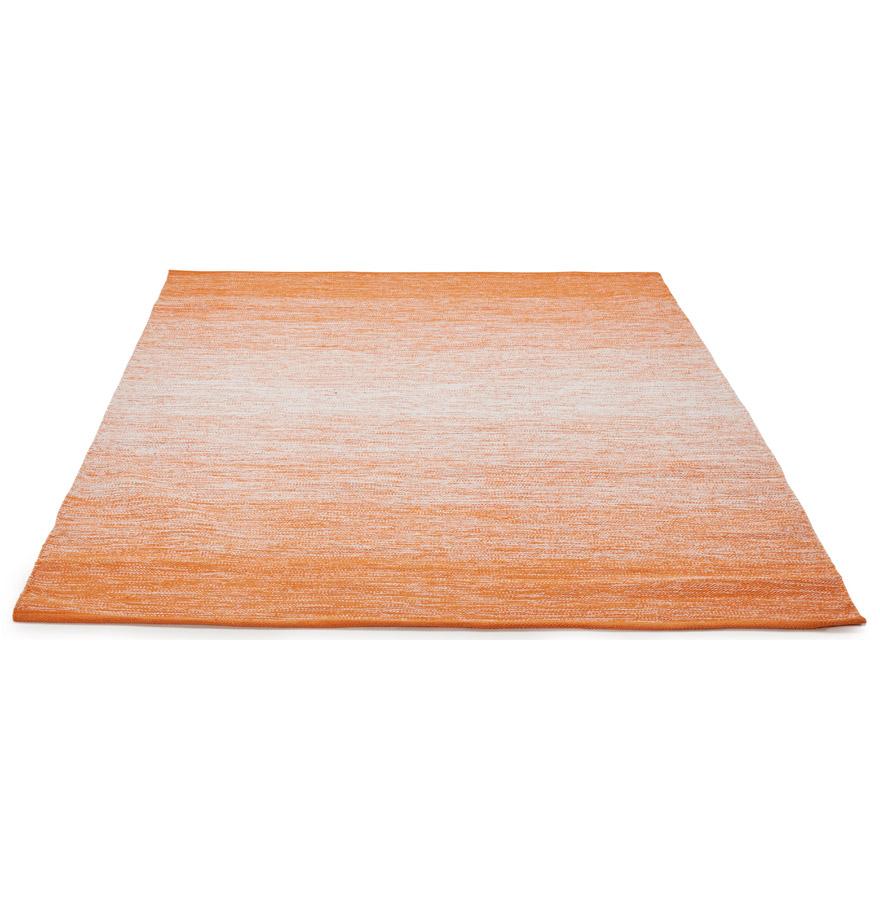 Tapis design ´WASH´ 160x230 cm orange en coton