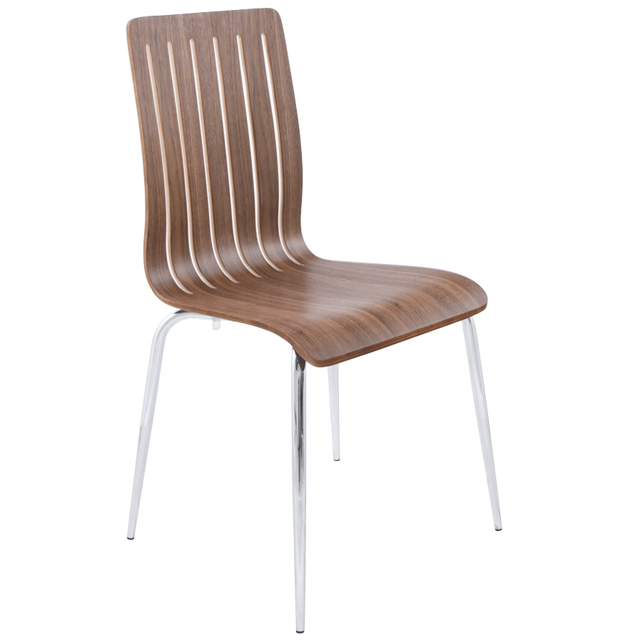 Chaise moderne ´WIND´ en bois finition Noyer
