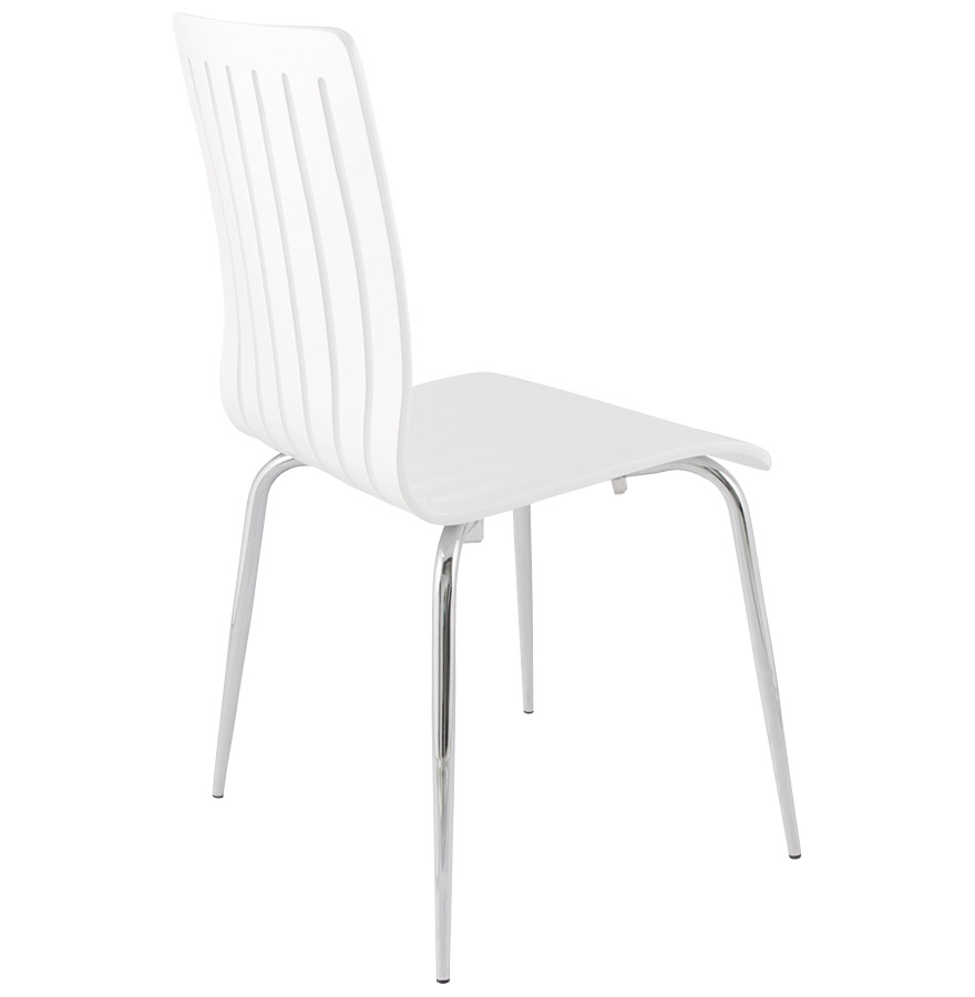 chaise moderne wind en bois blanc chaise design. Black Bedroom Furniture Sets. Home Design Ideas