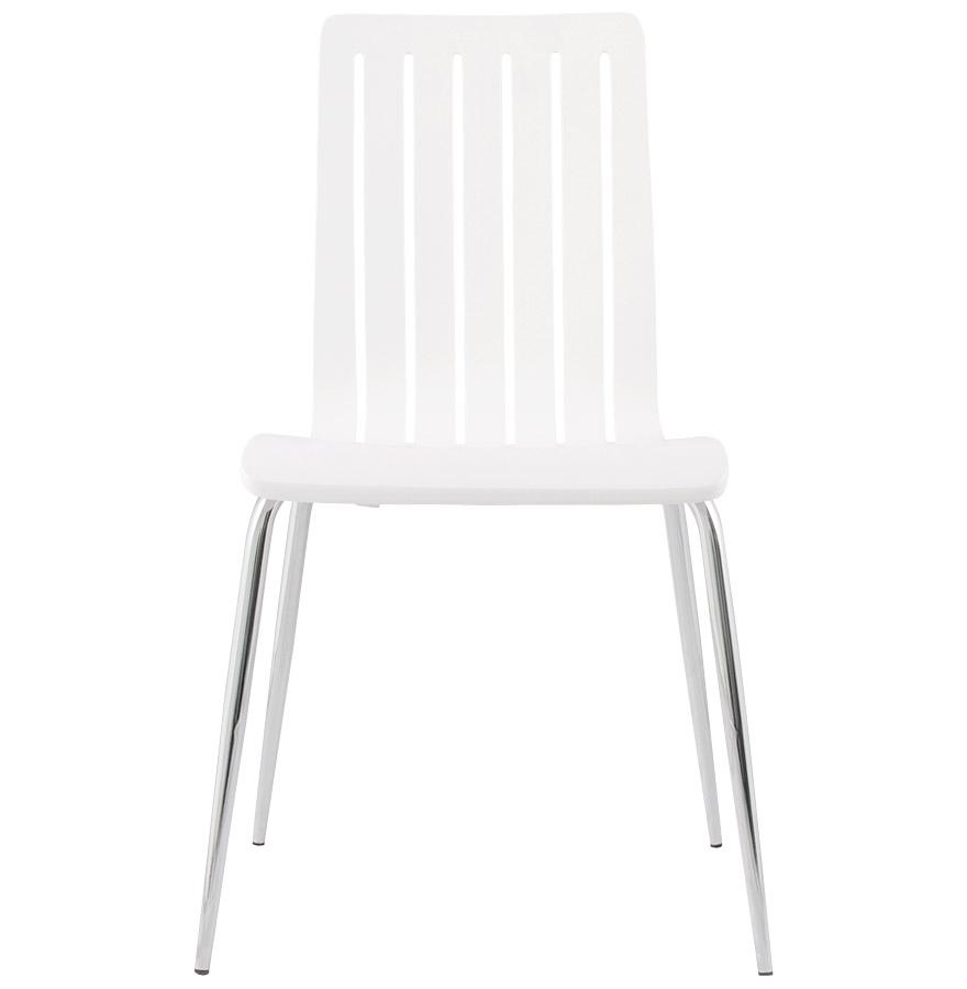 wind white newsite 06 - Chaise moderne ´WIND´ en bois blanc