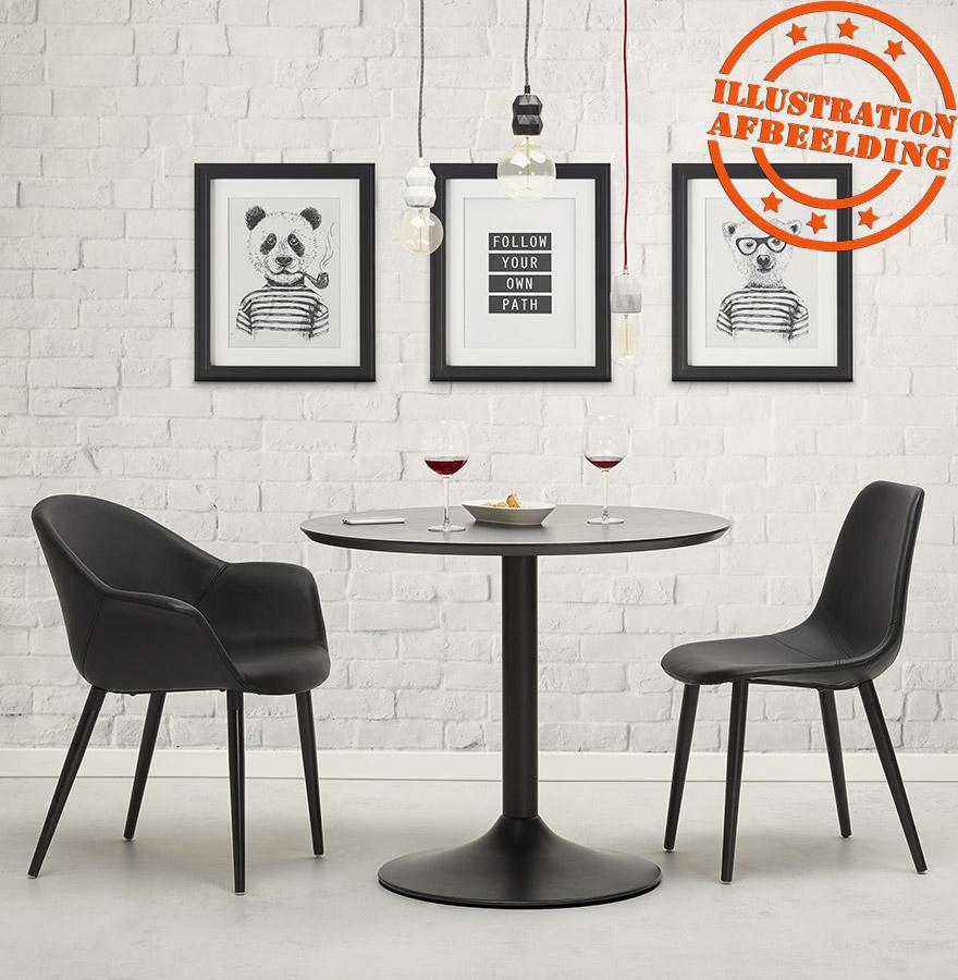 chaise moderne woody en similicuir noir alterego design. Black Bedroom Furniture Sets. Home Design Ideas